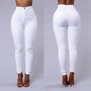 Fashion Casual Show Thin Women Ladies Solid Skinny Button Fly High Waist Pencil Pants 5 Style Outfit Summer Spring Fall-geekbuyig
