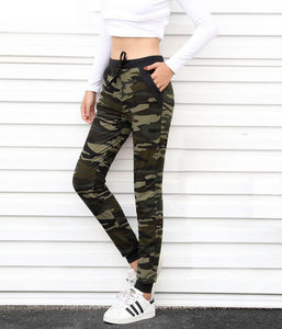 Rylanguage New arrival Women sweatpant Camouflage Jogger Pant  Harem Loose Long Pant With pocket Drawstring American Original