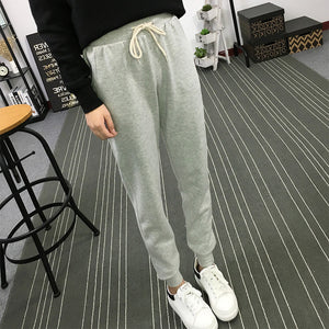 Fashion Autumn Spring Winter Women Clothes Loose Sweatpants Jogger Wide Leg Pencil Pants  Ankle-Length Elastic Long Harem Pants