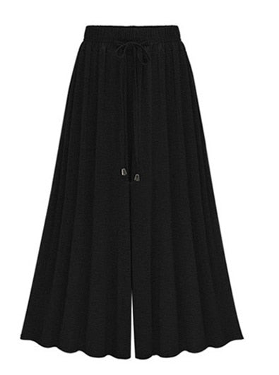 Women Wide Leg Pants Plus Size 5XL 6XL 2018 Fashion Women High Waist Casual Harem Palazzo Pleated Trousers Calca Pantalon Femmes-geekbuyig
