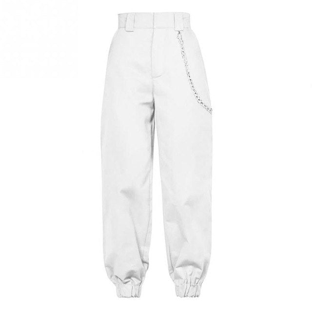 Women Casual Baggy Harem Pants Hip Hop Sweat Pants Trousers Ankle Banded Slacks-geekbuyig