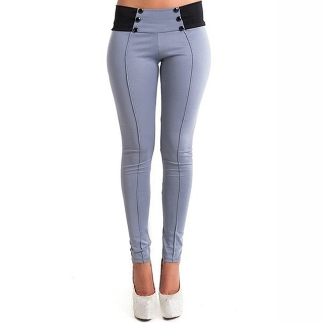 2017 Autumn Trousers For Women Pencil Pants Long Skinny Pants Female Long Trousers Stretch Modal Mid Waist Straight Pants 907906-geekbuyig