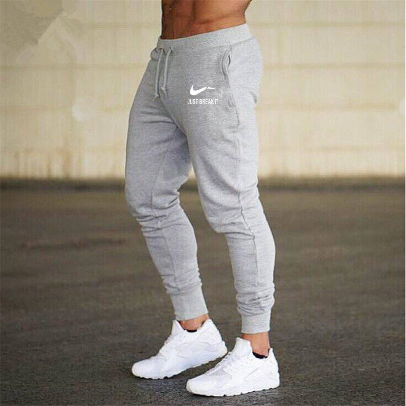 New joggers homme pants cotton Trousers pantalon homme grey black Sweatpants Casual Pants men Jogger GYMS Fitness Elastic pants-geekbuyig