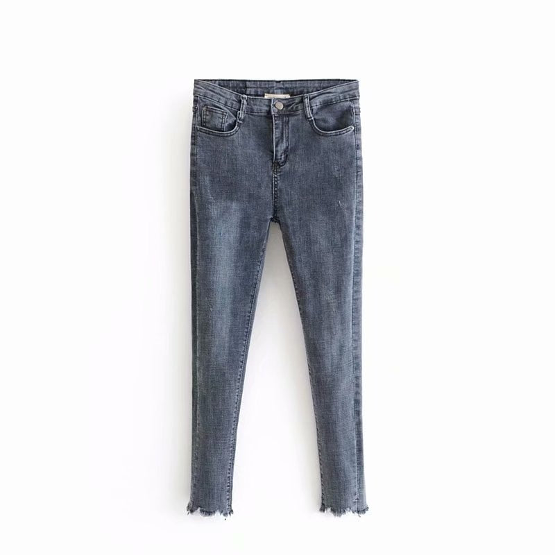 Hot sale Holiday wind 58-6276 European and American fashion dogs gnawing worn elastic jeans-geekbuyig