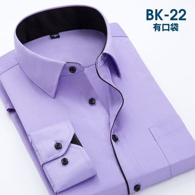 2018 Men Casual Long Sleeved Printed Shirts Slim Fit Male Social Business Dress Shirt Brand Men Clothing Camisas Para Hombre-geekbuyig