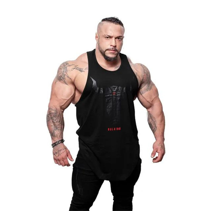 Brand Bull head printing clothing bodybuilding stringer gyms tank top men fitness singlet cotton sleeveless shirt muscle vest-geekbuyig