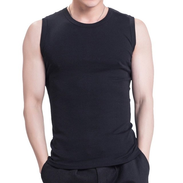 HEFLASHOR 2018 Summer Solid Color Tank Top Men Fashion V-Neck Fitness Undershirt Bodybuilding Male Casual Sleeveless Vest-geekbuyig