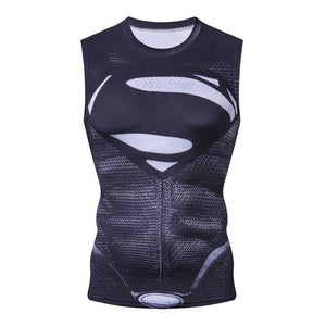 New Captain America Bodybuilding G yms Tank Top Men Marvel Anime Vest Fitness Clothing Sportswear Compression Muscle Tank Tops-geekbuyig