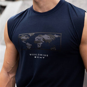 2018 Newest Brand Fashion Mens Sleeveless Summer Vest Cotton Slim Men Tank Tops Gyms Clothing Bodybuilding Shirt Fitness-geekbuyig