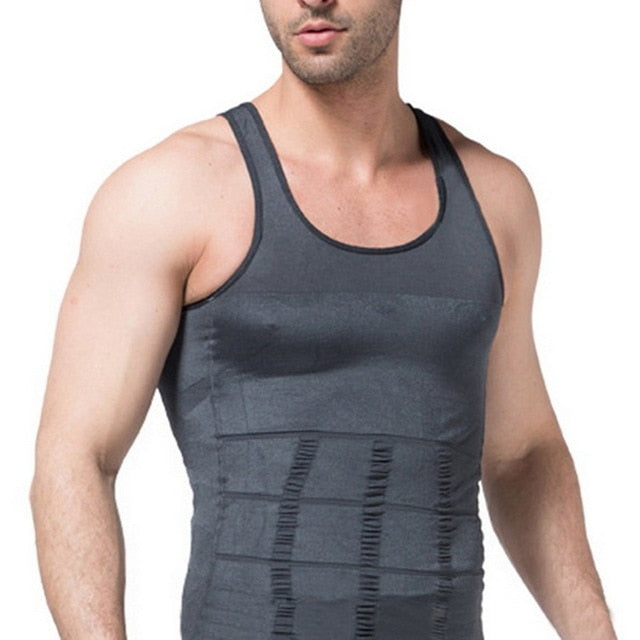 VERTVIE Slimming Vest Men's Slimming Underwear Body Shaper Waist Cincher Corset Male Shaper Vest Body Tummy Belly Body Clothes-geekbuyig