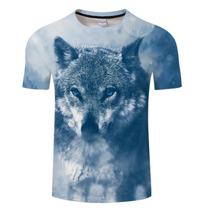 Ink Wolf Digital 3D Print T Shirt Men Women tshirt Summer Casual Short Sleeve O-neck Tops&Tees Blusas 2018 Drop Ship ZOOTOP BEAR-geekbuyig