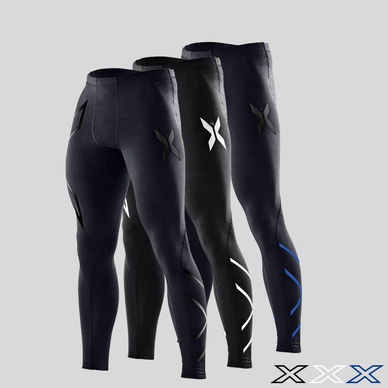 2018 Men's Compression Fitness Tights Men's Pants Jogging 3d Super Elastic Stretch Pants Breathable Jogging Pants-geekbuyig