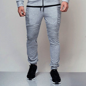 Autumn Brand Men Pants Hip Hop Harem Joggers Pants 2019 Male Long Trousers Fashion Joggers Fold Pants Sweatpants Black Grey-geekbuyig