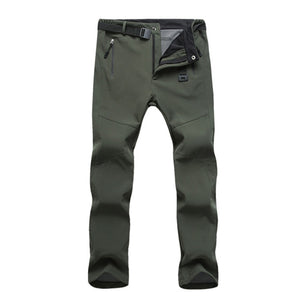 SHUJIN Men Waterproof Pants Winter Casual Solid Warm Trousers 2018 Autumn Windbreaker Sweatpants Breathable Male Pants-geekbuyig