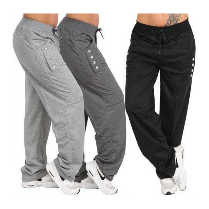 Men Sport Pants Mens High Waist Running Jogging Trousers Elastic Breathable Bottoms-geekbuyig