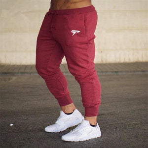 New men's sweatpants Joggers pants men stretch workout fitness gyms casual sweatpants runners pants 2018 Men's Cotton trousers-geekbuyig