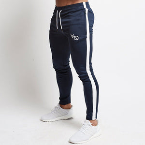 Joggers Casual Pants Men Embroidery Fitness Sportswear Hip Hop Tracksuit Bottom Skinny Sweatpants Trousers Gyms MMA Jogger Pants-geekbuyig