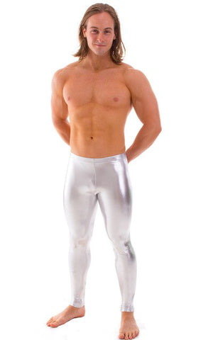 OVIGILY Mens Gold Silver Black Metallic Dance Leggings Shiny Stage Performance Pants Spandex Skinny Leggings For Adults And Boys-geekbuyig