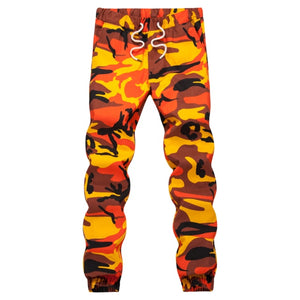 Ins Orange Camouflage Jogger Pants Men Hip Hop Woven Casual Pants Tactical Military Trouser Pockets Cotton 2018 Sweatpants-geekbuyig