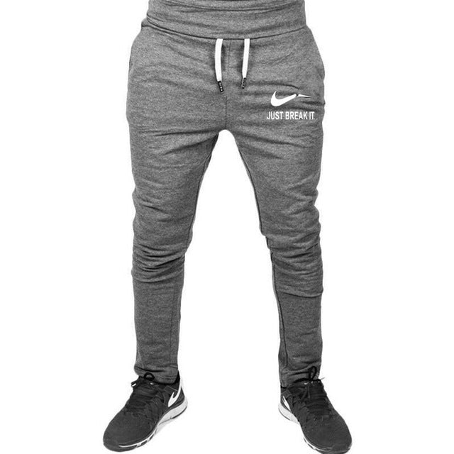 High Quality Jogger Pants Men JUST BREAK IT Bodybuilding Gyms Pants For Runners Brand Clothing Autumn Sweat Trousers Britches-geekbuyig
