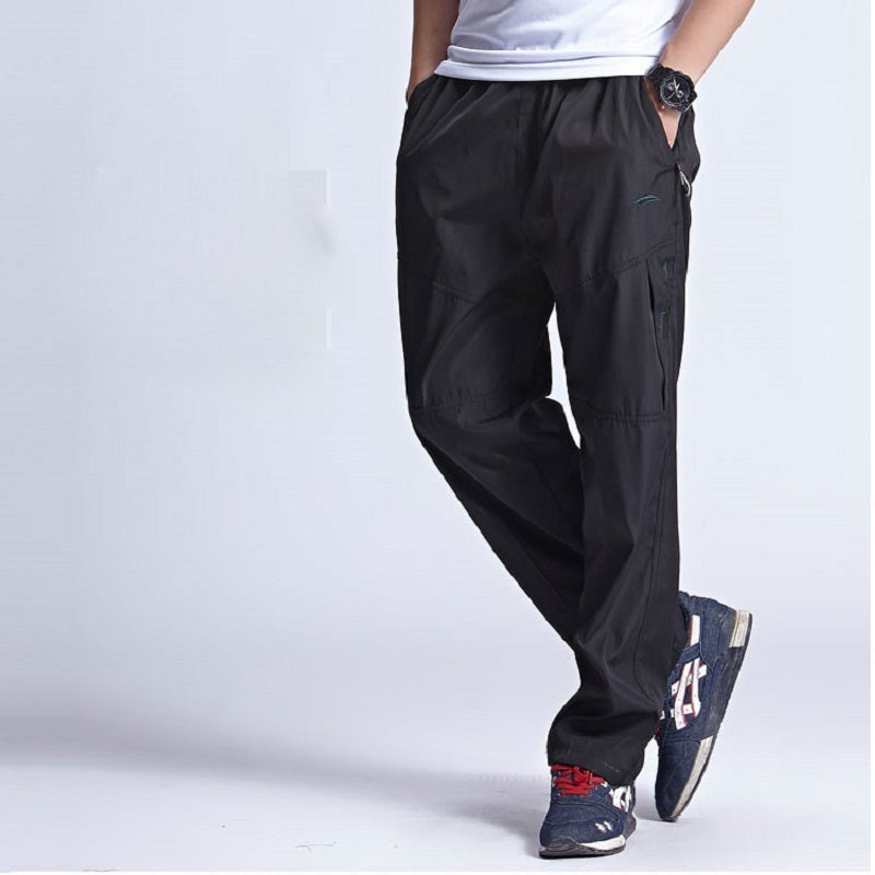 2018 New Warm Winter Fleece Thicken Men's casual Pants Heavyweight Mens Thermal Trousers Waterproof Slim Fitted Sweatpants 3XL-geekbuyig