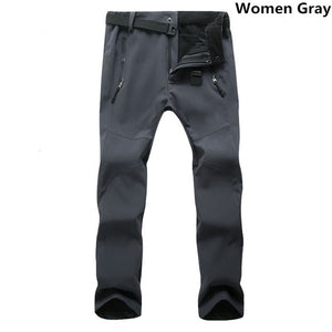 Men's Casual Stretch SoftShell Waterproof Pants Women Men Winter Warm Windproof Trousers Mens Sweatpants Fleece Work Pants 3XL-geekbuyig