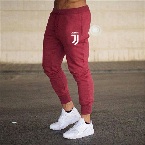Juventus New sweatpants Men's solid workout bodybuilding clothing casual GYMS fitness sweatpants joggers pants skinny trousers-geekbuyig