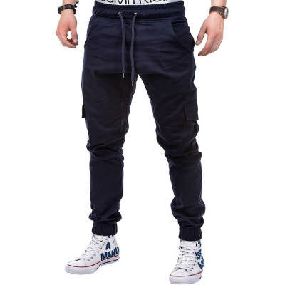 Mens Joggers New Casual Sweatpants Men Streetwear Fashion male trousers Drawstring Side Pocket Men's Casual Pants-geekbuyig