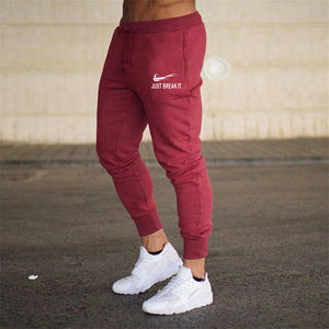 New Jogger JUST BREAK IT Pants Men Fitness Bodybuilding Gyms Pants For Runners Man Workout Sportswear Sweatpants Sweat Trousers-geekbuyig