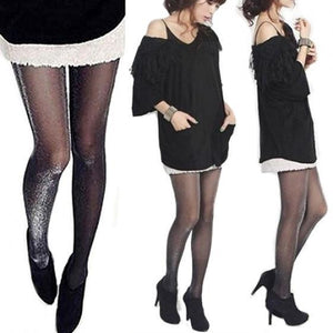 LASPERAL Elastic Silver Silk Fashion Bling Glitter Women Stocking Footwear Long Stockings Sexy Shinny Tights For Women-geekbuyig