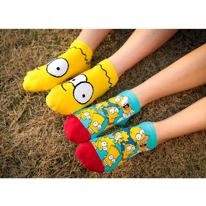 Anime men Socks compression socks with print man cartoon Shawn big eyes Popsoket calcetines hombre Women's Happy socks-geekbuyig