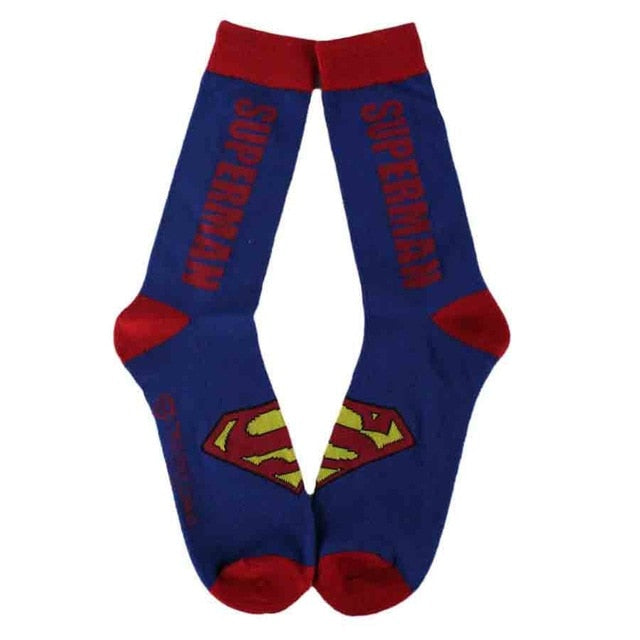 Marvel Comics Hero General Socks cartoon Iron Man Captain America Crew Knee-High Warm Stitching pattern Antiskid Casual Sock-geekbuyig