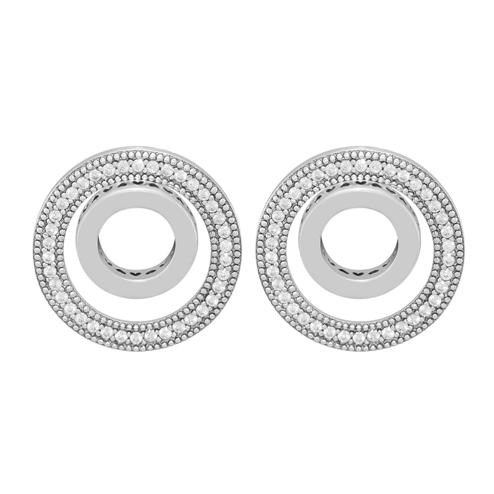 100% 925 Sterling Silver Forever Signature Stud Earrings Fashion Earrings for Women Sterling Silver Jewelry-geekbuyig