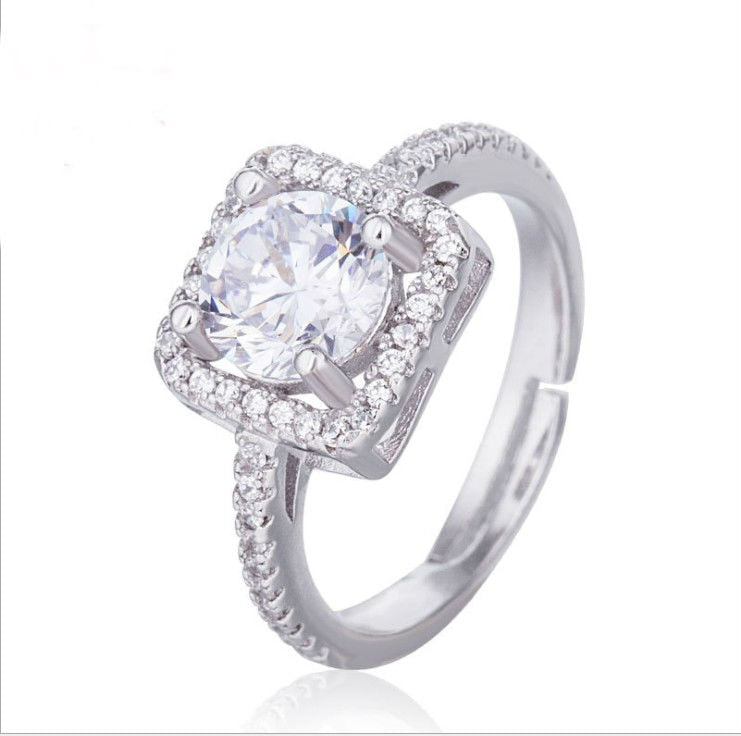 wholesale Limited New Arrival Plant Trendy Unisex Sale Authentic Crystals From Austrian Fine Jewelry Ring Wedding Ring-geekbuyig