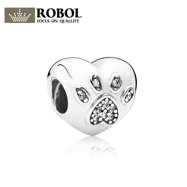 ROBOL 925 Sterling Silver Original PAN Charm Beads DIY Bracele Advanced Factory 1:1 Original Product Of Fine Jewelry For Women-geekbuyig