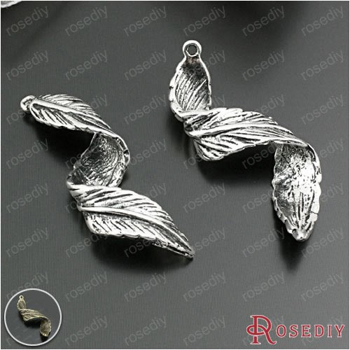 (28896)10PCS 44*14MM Antique Silver Zinc Alloy Curly Leaves Charms Pendants Diy Jewelry Findings Accessories Wholesale-geekbuyig