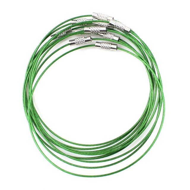 "10pcs Stainless Steel Wire Choker Necklace 18"" Mix Color Collares Populares Materials To Make Necklaces Cierres Para Collares-geekbuyig"