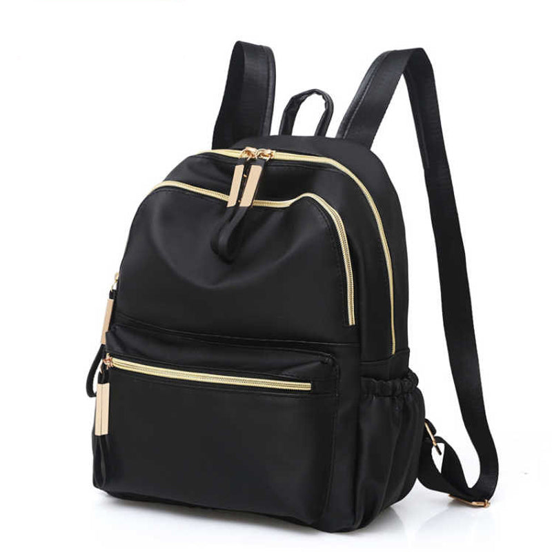 2019 Casual Oxford Backpack Women Black Waterproof Nylon School Bags for Teenage Girls High Quality Fashion Travel Tote Backpack-geekbuyig