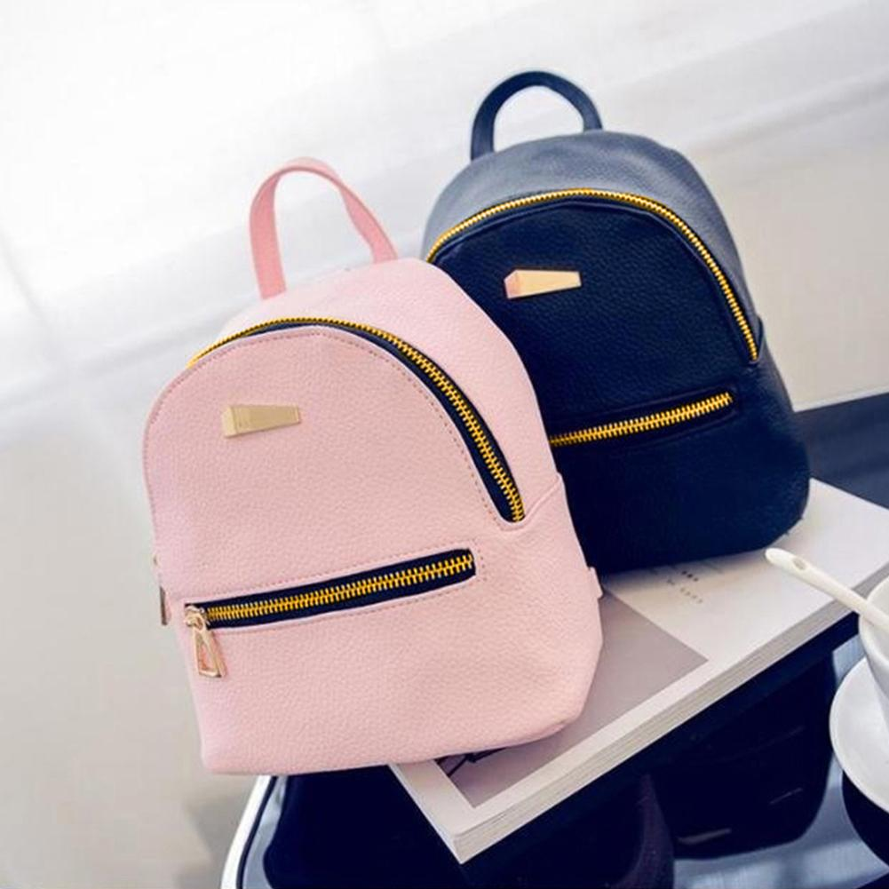Fashion Leather Mini Backpack Girls Travel School Rucksack Bag School Travel Backpack For Teenage Girls Women Shoulder Bag-geekbuyig