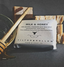 Load image into Gallery viewer, Milk & Honey - Unscented Goat Milk Soap with Honey