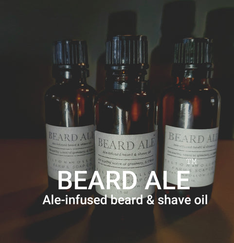 Beard Ale - Beard & shave oil infused with red ale.