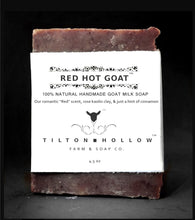Load image into Gallery viewer, Red Hot Goat - a romantic scent, rose kaolin clay, & a hint of cinnamon