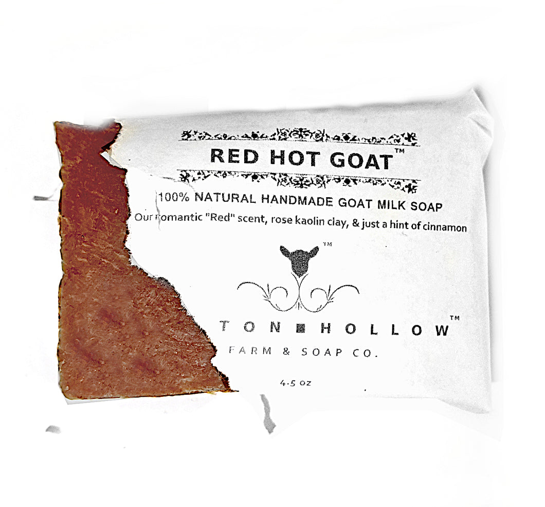 Red Hot Goat - a romantic scent, rose kaolin clay, & a hint of cinnamon