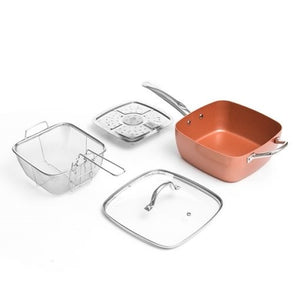 5 in 1 All-Purpose Ceramic Pan Set (4 pieces)