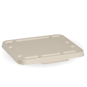 2 & 3 Compartmet Natural BioCane Takeaway Lid - B-LBL-2/3C-N