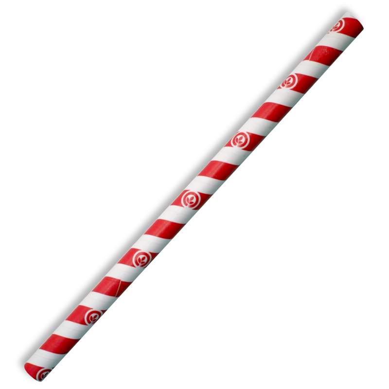 10mm Jumbo Red Stripe BioStraw - JP-PBS-10X197-RS