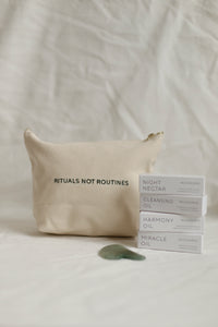 RITUALS NOT ROUTINES CANVAS BAG