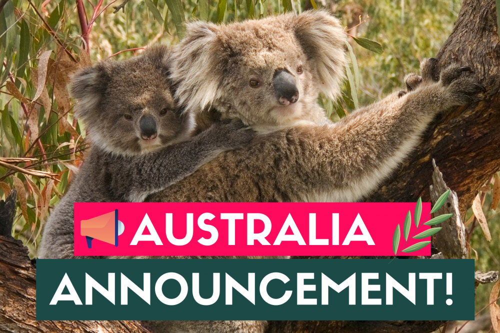Big Announcements for Australia - Earth Day 2020