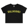 TALOWOOD LADIES CROP CAMO TEE BLACK