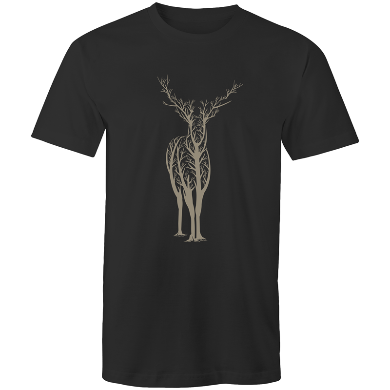 EARTH DAY 2020- DEER TREE SILHOUETTE TEE- BLACK